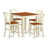 Neven Counter Height Rubberwood Solid Wood Dining Set by Charlton Home®
