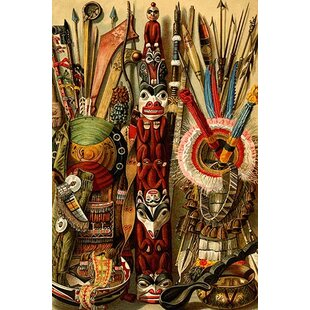 U0027Native American Ornaments And Weaponsu0027 By F.W. Kuhnert Painting Print