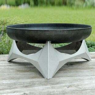 Quesada Stainless Steel Charcoal/Wood Burning Fire Pit By Sol 72 Outdoor