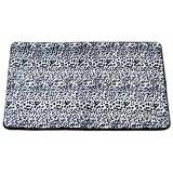 Shadai Snow Leopard Faux Fur Rectangle Non-Slip Animal Print Bath Rug