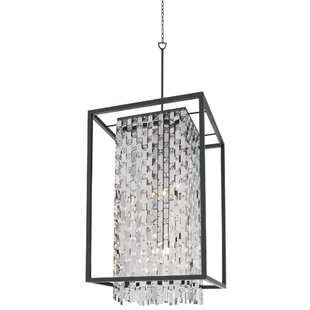 DVI Amethyst 9-Light Square/Rectangle Chandelier