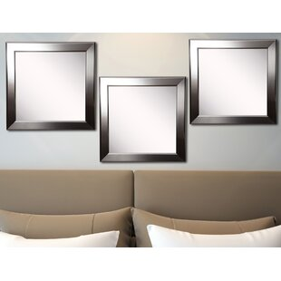 Reviews Osibodu Silver Rounded Wall Mirror (Set of 3) By Orren Ellis