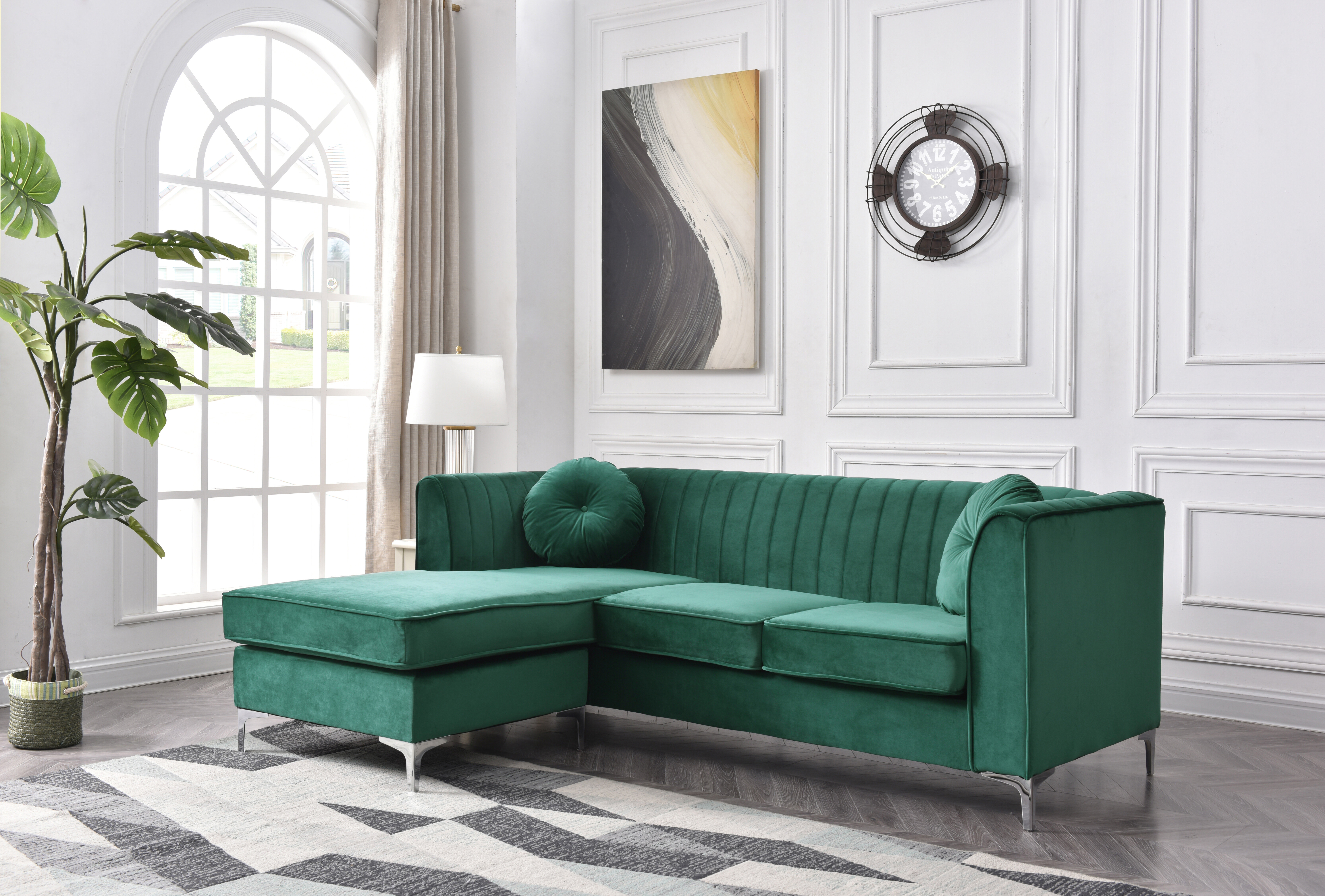Emerald Green Sectional | Wayfair