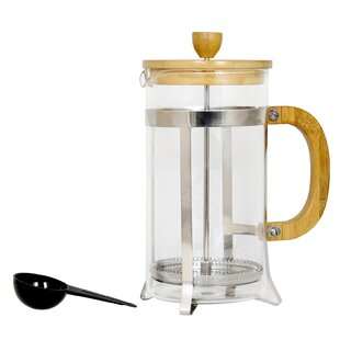 4-Cup Callisburg Bamboo Cafe French Press Coffee Maker