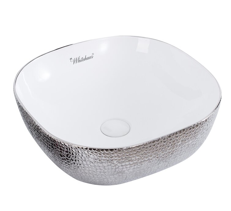 Whitehaus Collection Isabella Plus Vitreous China Square Vessel Bathroom Sink Reviews Perigold