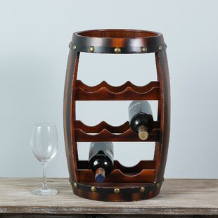 Dickinson 8 Bottle Floor Wine Rack by Millwood Pines