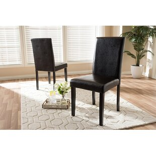 Haag Upholstered Dining Chair (Set of 2) Charlton Home