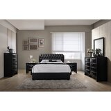 Markes Wood Bonded Leather Standard 6 Piece Bedroom Set by Wrought Studio™