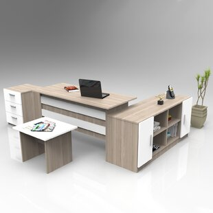 Purdue 4-Piece Standard Desk Office Suite By Ebern Designs