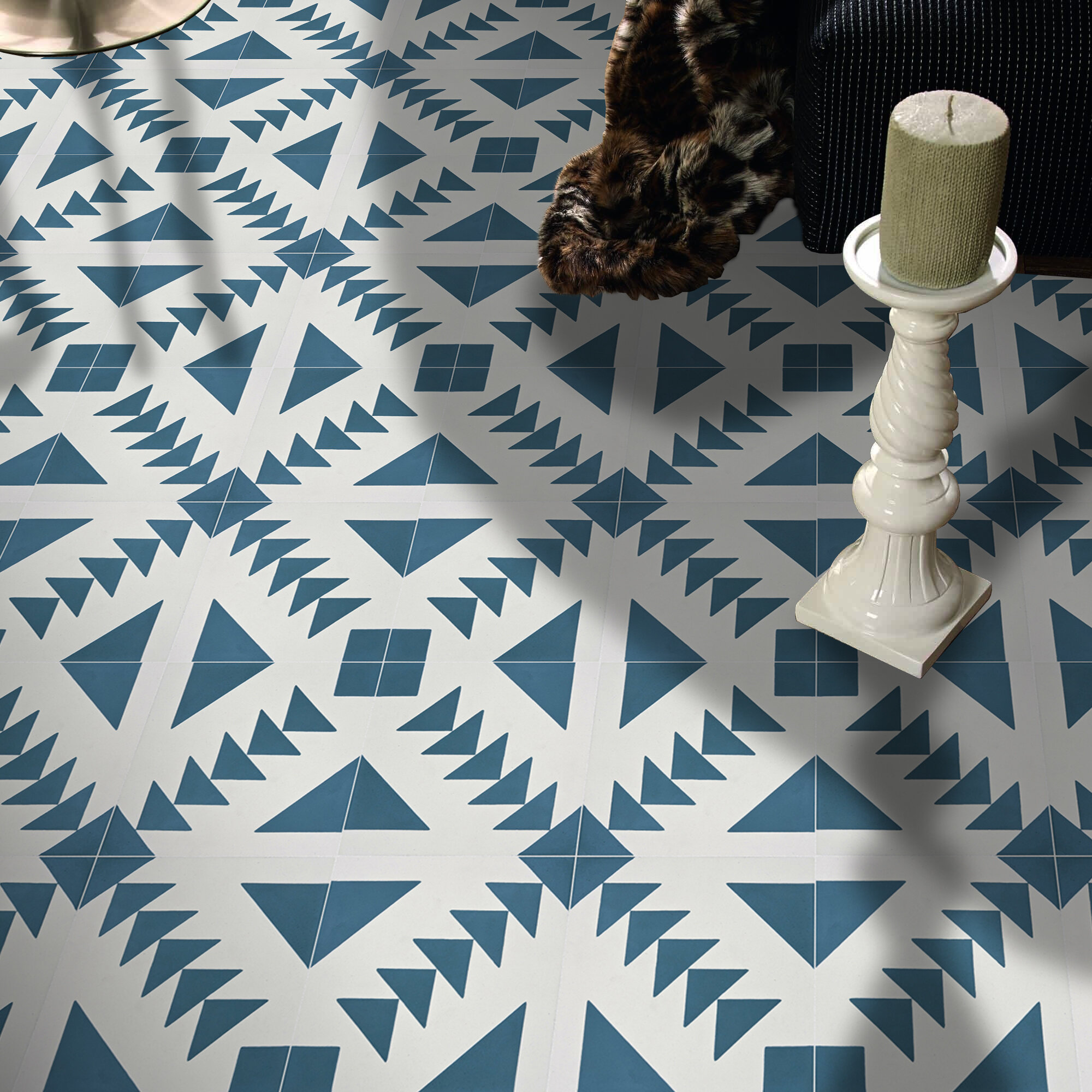 Moroccan Mosaic Tile House Tadla 8 X 8 Cement Patterned Wall Floor Tile Reviews Wayfair