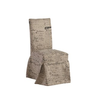 Ophelia & Co. Naoma Script Slipcovered Upholstered Dining Chair