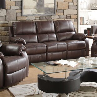 Malave Leather Reclining Sofa Red Barrel Studio