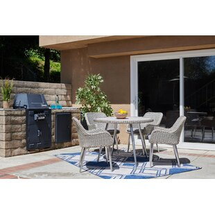 Highland Dunes Chacko 5 Piece Patio Dining Set with Cushion