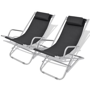 Excellent Roosevelt Steel Reclining Beach Chair Set Of 2 Gmtry Best Dining Table And Chair Ideas Images Gmtryco