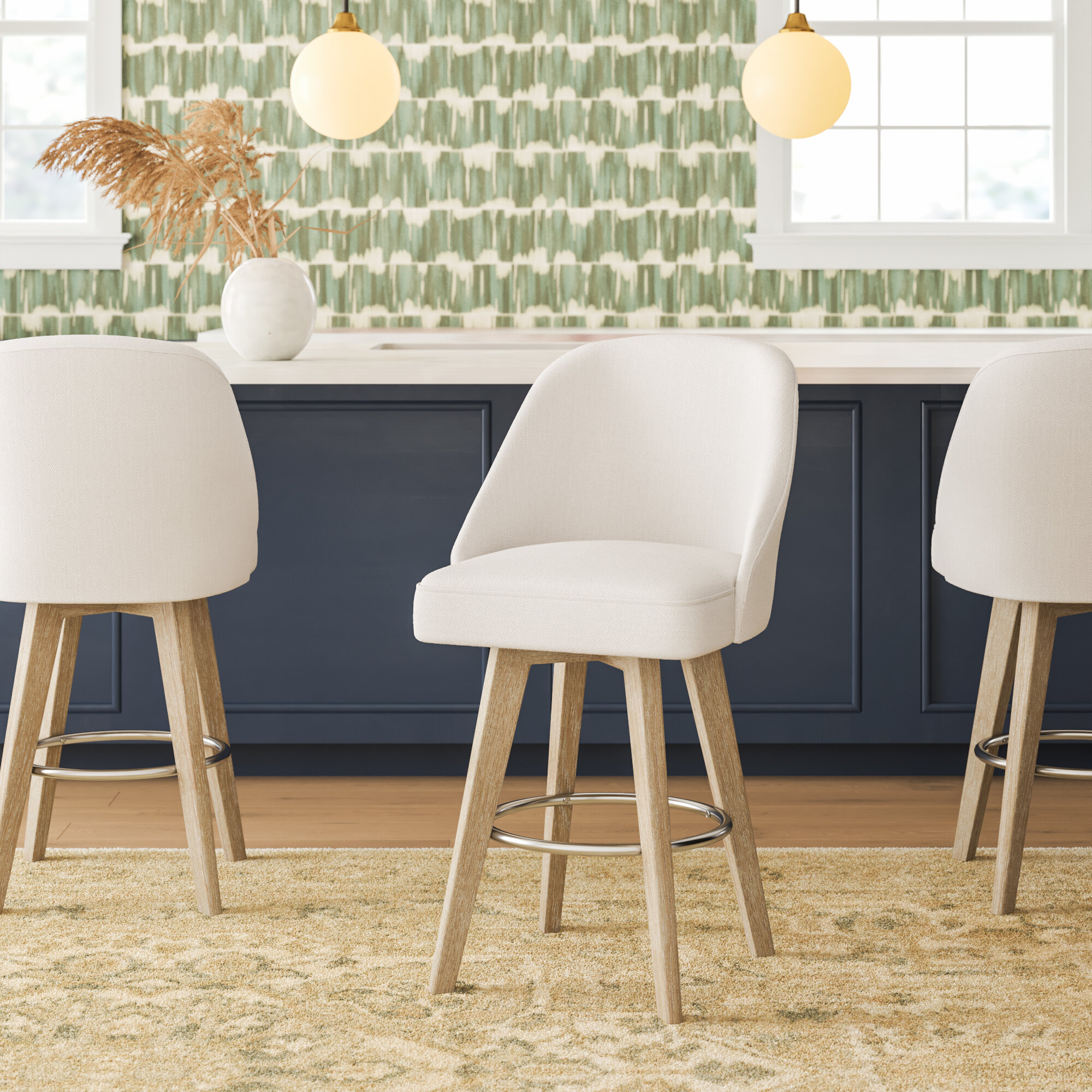 Picture of: Mayberry Swivel 25 75 Counter Stool Reviews Joss Main