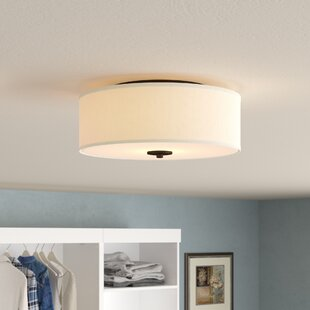 Best Reviews Greenwell 2-Light Flush Mount By Three Posts