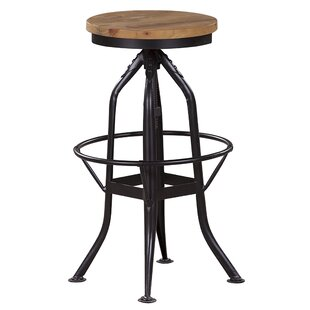 Harbin Adjustable Height Bar Stool by 17 Stories Savings