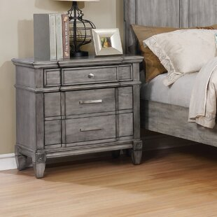 One Allium Way Parham Transitional 2 Drawer Nightstand