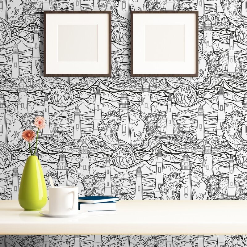 Breakwater Bay Iain Nautical Removable Peel And Stick Wallpaper Panel Wayfair