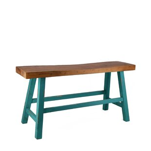 Read Reviews Doukala Recycled Wood Bench