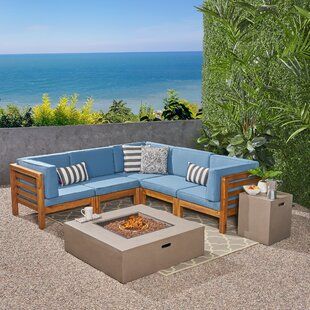 Galindo Outdoor 7 Piece Sectional Seating Group with Cushions