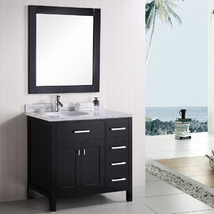 Best Price Middletown 36 Single Bathroom Vanity Set with Mirror By Andover Mills
