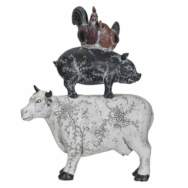 "Lot of 4 Pig Farm Animal Shape 3/"" Rusty Metal Vintage Ornament Craft DIY Sign"