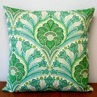 Bay Isle Home Aliana Emerald Tropical Palm Leaf Indoor Outdoor Throw Pillow Reviews Wayfair