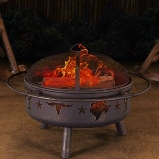 Sunjoy Jasper Steel Wood Burning Fire Pit