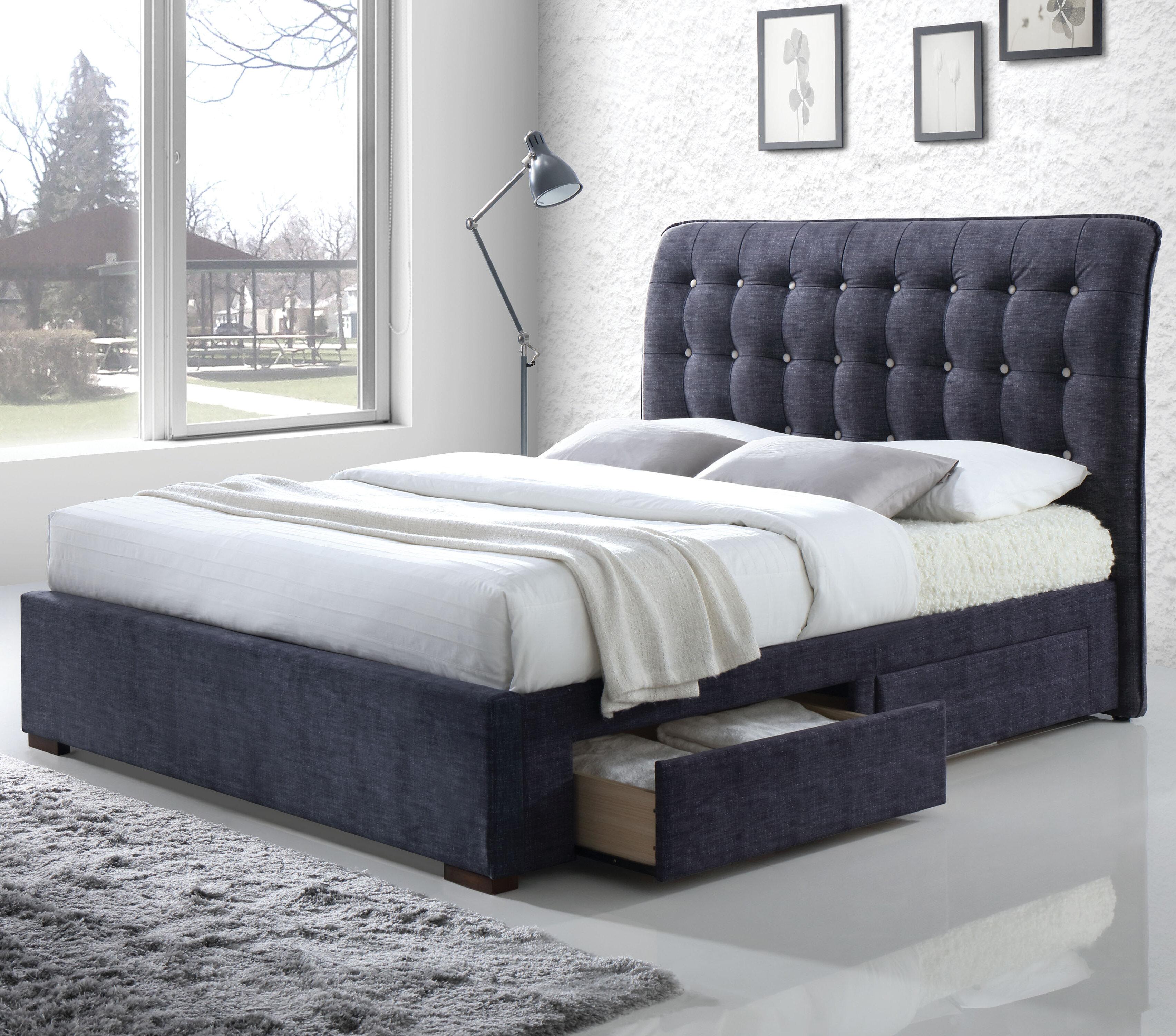 Brayden Studio Finn Upholstered Storage Sleigh Bed   Wayfair