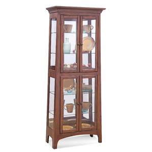Lancaster III Lighted Curio Cabinet by Ph..