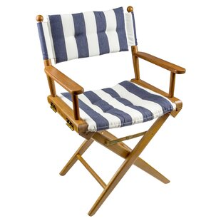 Kylee Folding Director Chair with Cushion by Longshore Tides