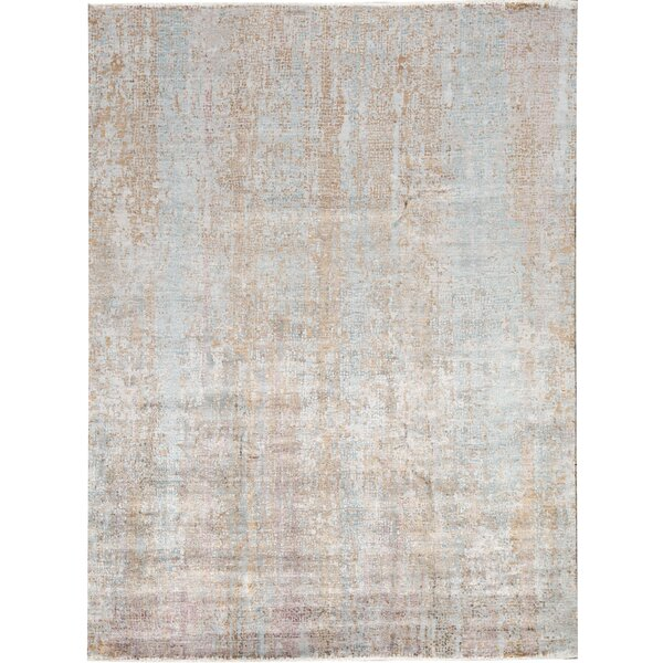 Bokara Rug Co Inc Neo Villa Abstract Hand Knotted Brown Area Rug Wayfair