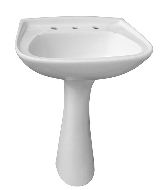 Barclay Hartford Pedestal Sink.Barclay Hartford Vitreous China Circular Pedestal Bathroom Sink With