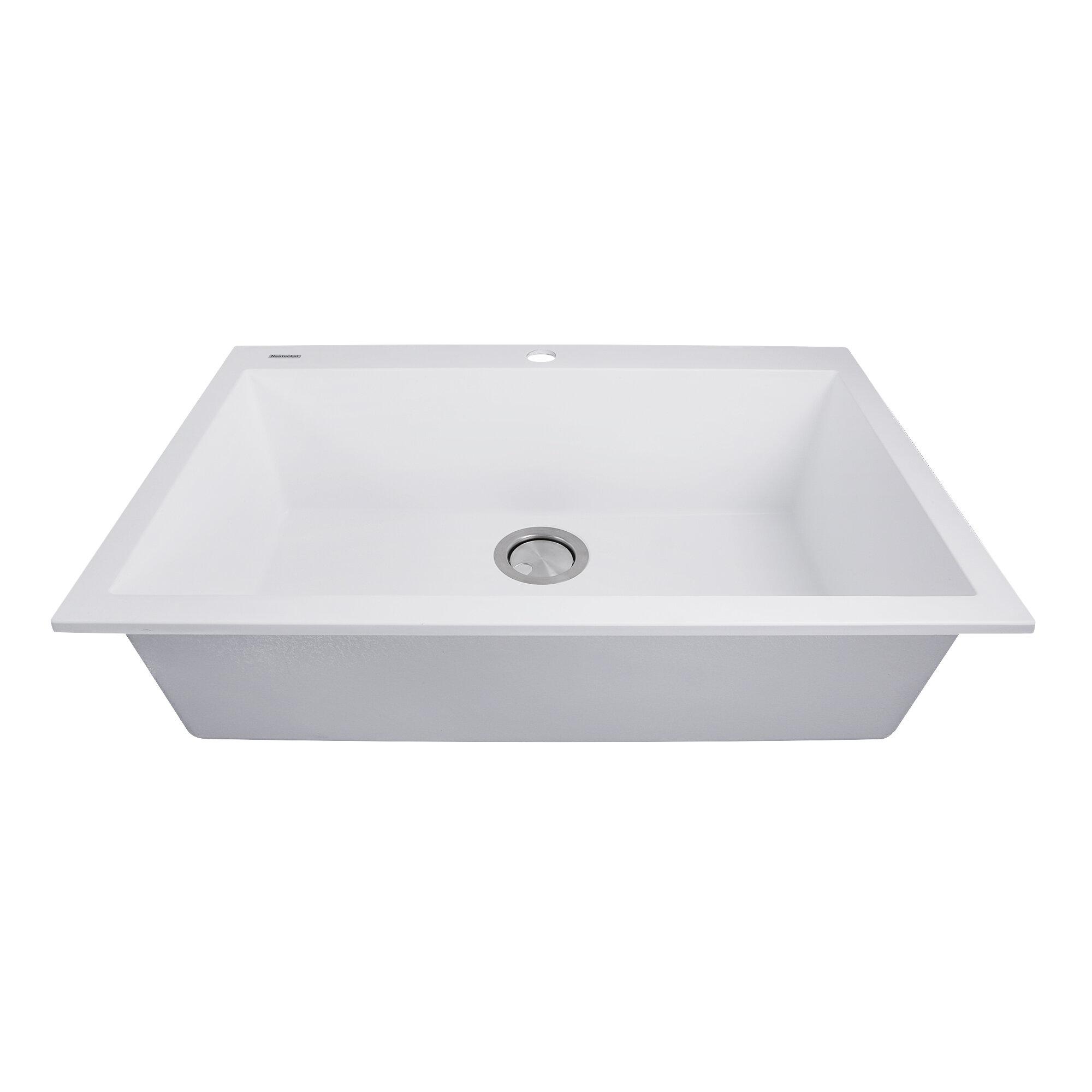 plymouth 30   x 20   drop in kitchen sink  u0026 reviews   allmodern  rh   allmodern com