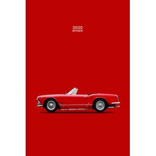 '1959 Maserati 3500 GT Spyder' Graphic Art Print on Canvas By East Urban Home