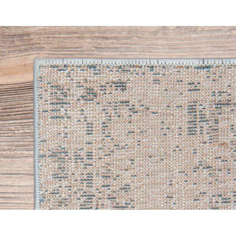 73ee08984 Mistana Brandt Light Blue Ivory Area Rug   Reviews