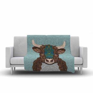 Art Love Passion Bennie The Bull Fleece Blanket ByEast Urban Home