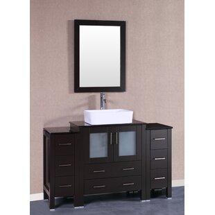 Barris 54 Single Bathroom Vanity Set with Mirror by Bosconi