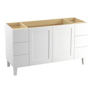 Poplin? 60 Vanity with Furniture Legs, 2 Doors and 6 Drawers, Split Top Drawers by Kohler