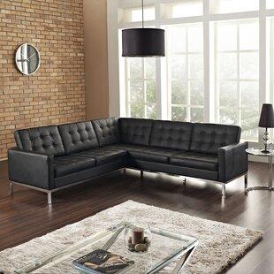 Orren Ellis Gayatri Leather Sectional