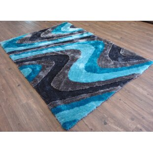 Compare & Buy Hand-Tufted Gray/Blue Area Rug By Rug Factory Plus