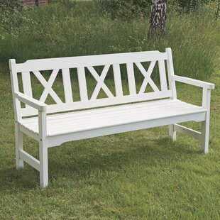 Wooden Bench By August Grove