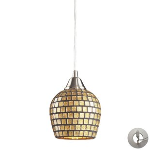Beachcrest Home Roehampton 1-Light Cone P..