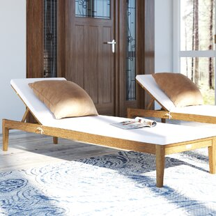 Wiest Reclining Chaise Lounge With Cushion By Birch Lane™ Heritage