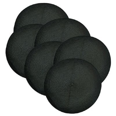 Birch Lane™ Heritage Round Braided Placemats Color: Black