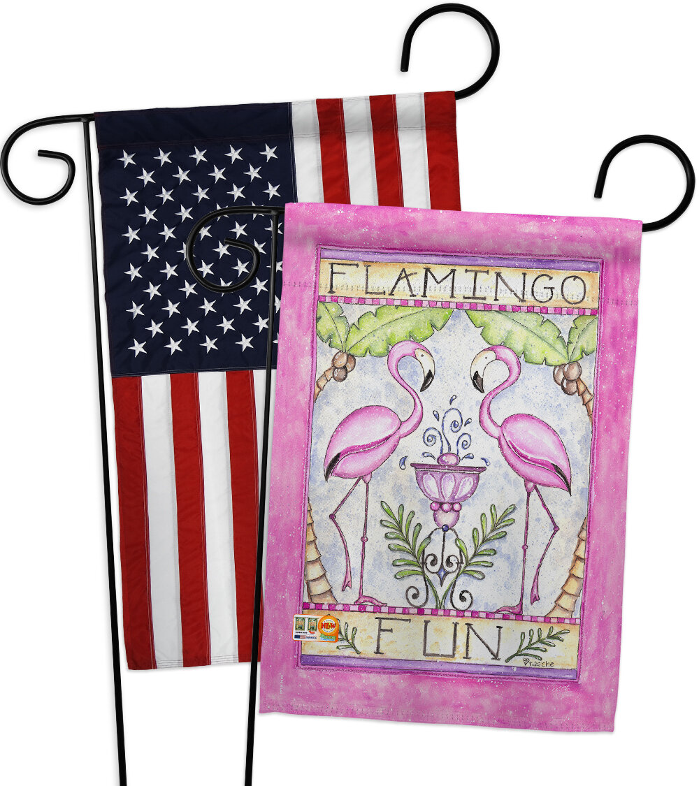 Breeze Decor Flamingo Fun 2 Sided Polyester 19 X 13 In Garden Flag Wayfair