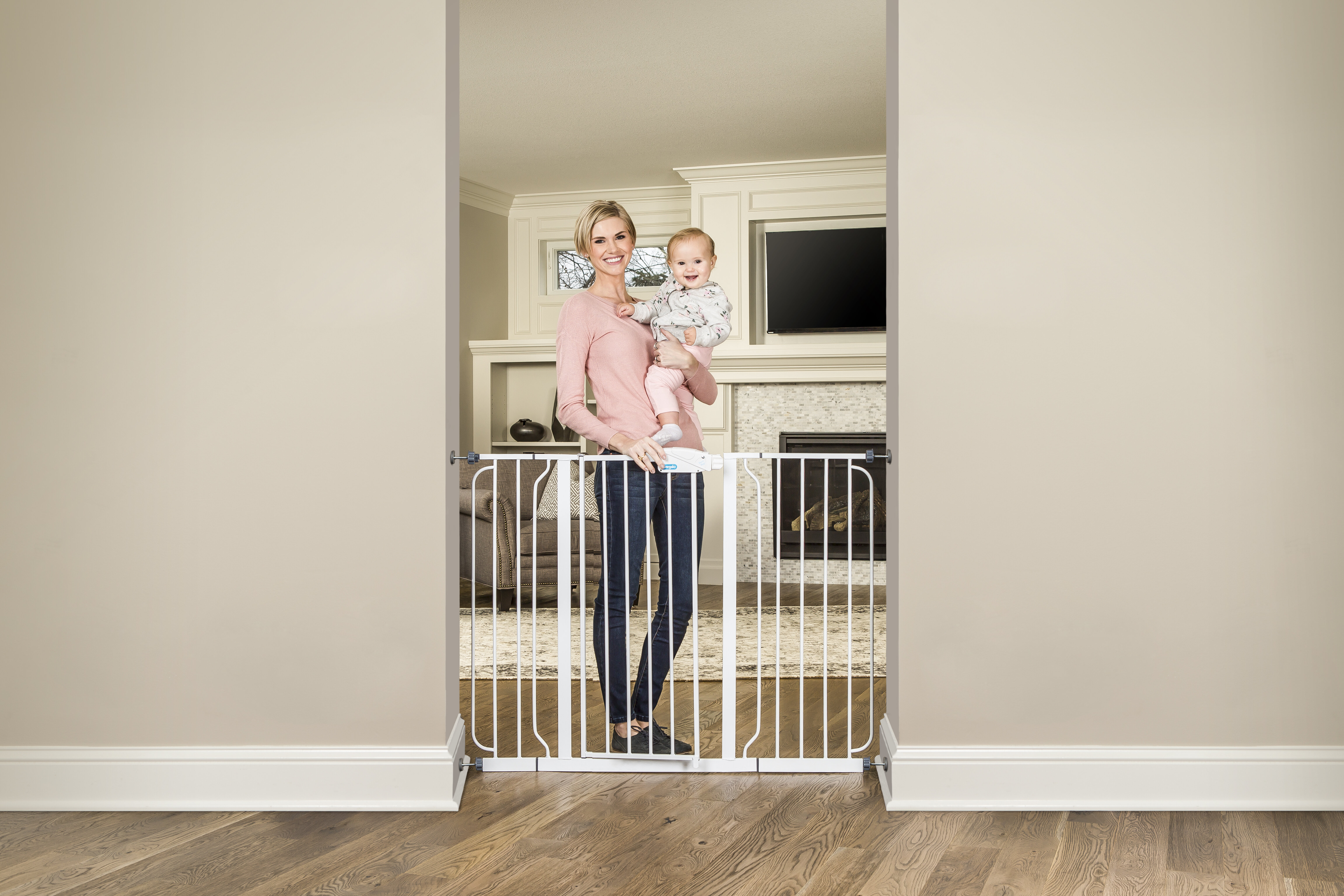 Regalo Extra Tall Wide Span Safety Gate U0026 Reviews | Wayfair