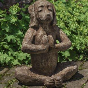Yoga Dog Statue