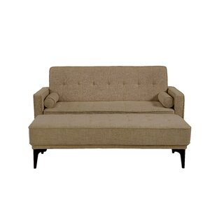 Alcott Hill Back Forty Convertible Loveseat with Ottoman